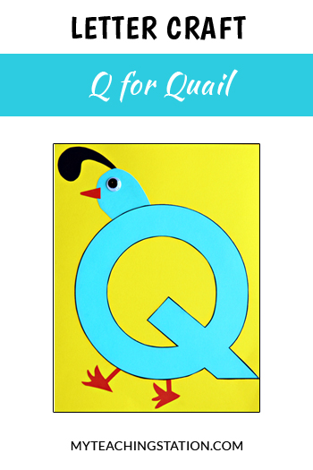 Quail Letter Craft for Letter Q