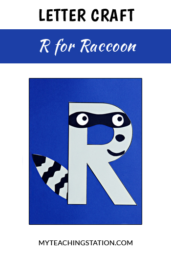 Raccoon Letter Craft for Letter R