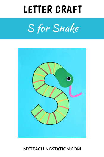 Snake Letter Craft for Letter S