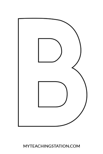 printable letter b outline print letter b letter b craft bee myteachingstation 955