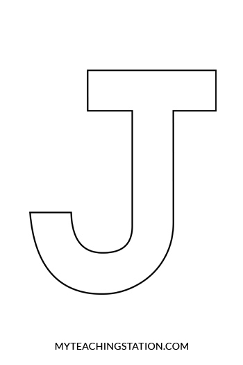 letter j craft template  Letter J Craft: Jet | MyTeachingStation.com