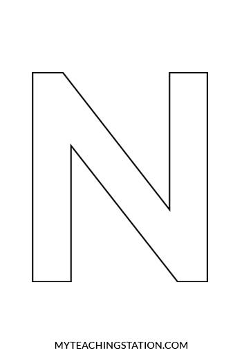 Letter N Craft: Ninja | MyTeachingStation.com