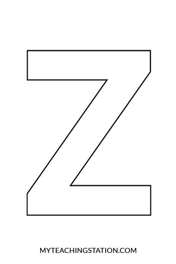 Uppercase Letter Z Template
