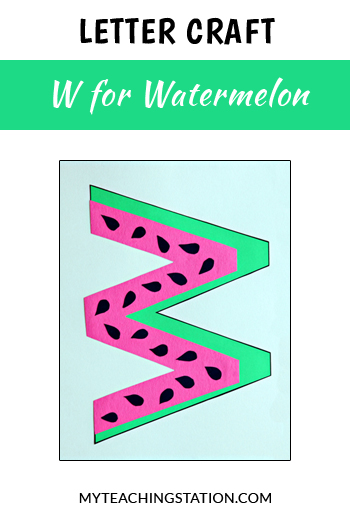 Watermelon Letter Craft for Letter W