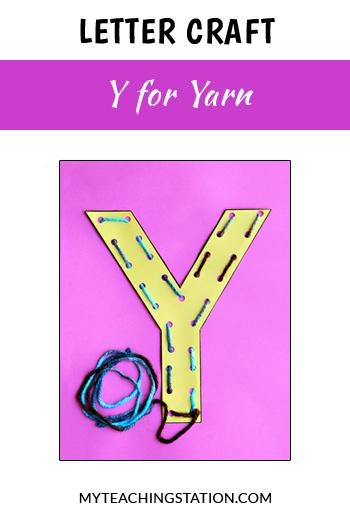 Yarn Letter Craft for Letter Y