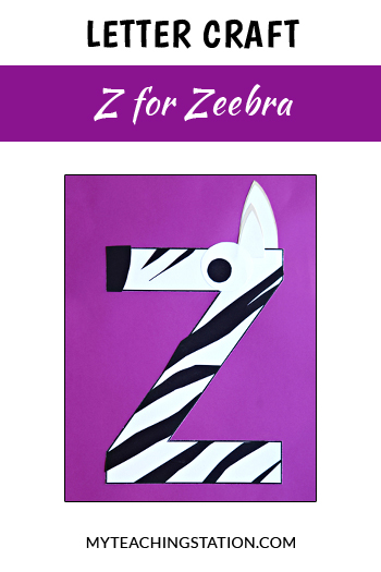 Zebra Letter Craft for Letter Z
