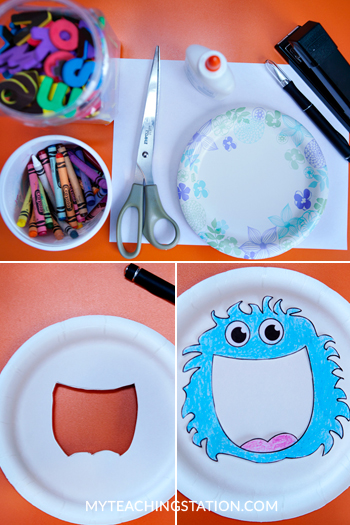 Creating a kids magnifying glass for finding the alphabet letters.