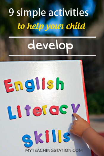 9 simple activities to help children develop English literacy skills