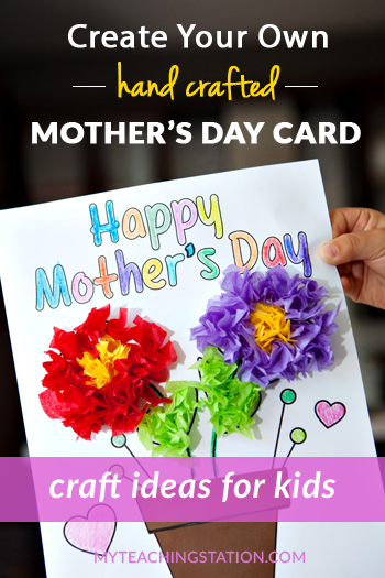 Preschool Kids Craft Activity - Make a Simple Mother's Day Homemade Card