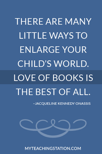 Famous Quote About Reading by Jacqueline Kennedy Onassis