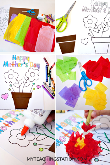Easy Mother's Day Homemade Card with the Kids