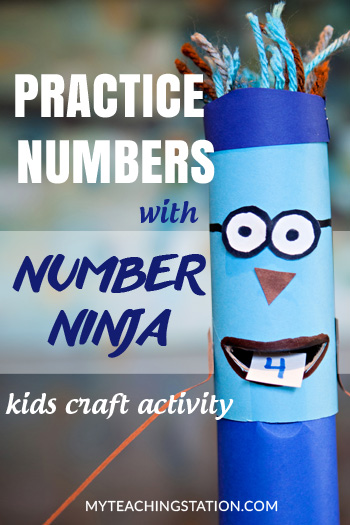 Practice Recognizing Numbers with Number Ninja - A Fun Kids Craft Activity