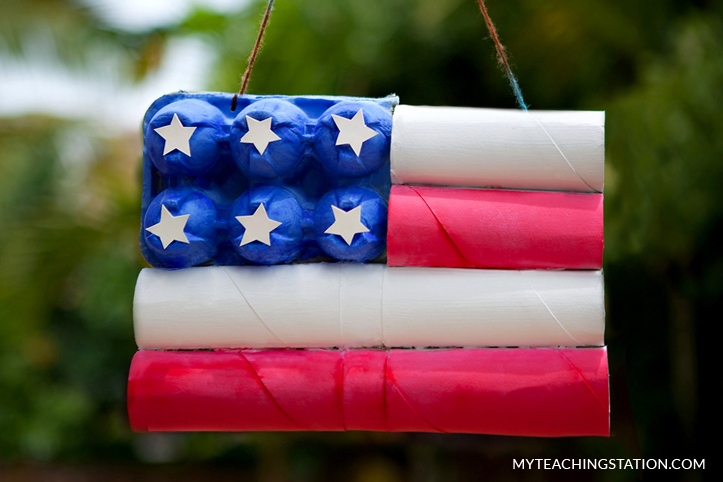 Patriotic Kids Craft with Recycled Materials