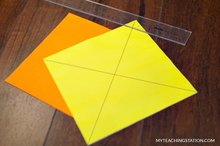 Pinwheel square paper
