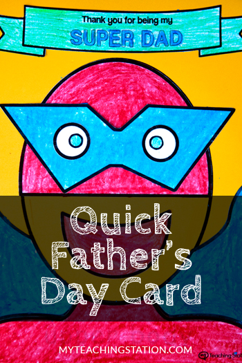 Preschool Kids Craft Activity - Make a Simple Father's Day Homemade Card