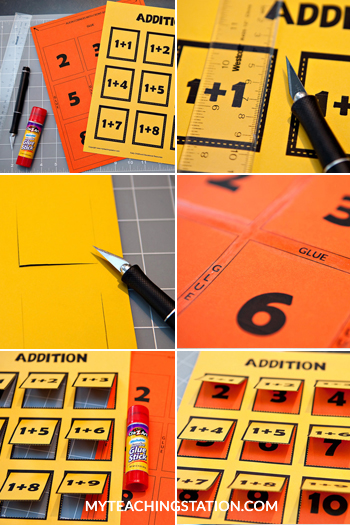 Addition Flip Chart Instruction Steps