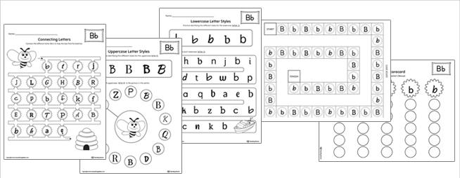 Alphabet Letter Styles Worksheets