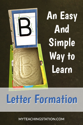 How to make learning letter formation fun for children in preschool.