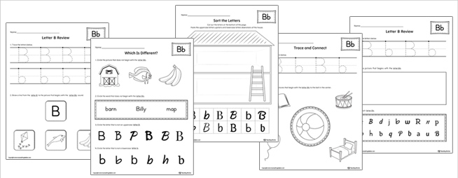 Learning the Alphabet Review Practice Worksheets