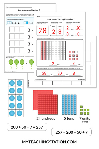 Number Sense Activities and Worksheets