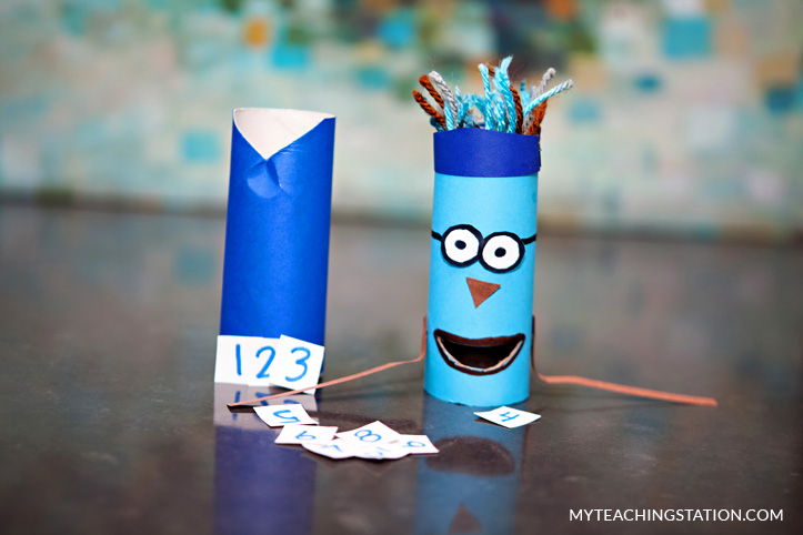 Practice recognizing numbers with the number ninja art craft.