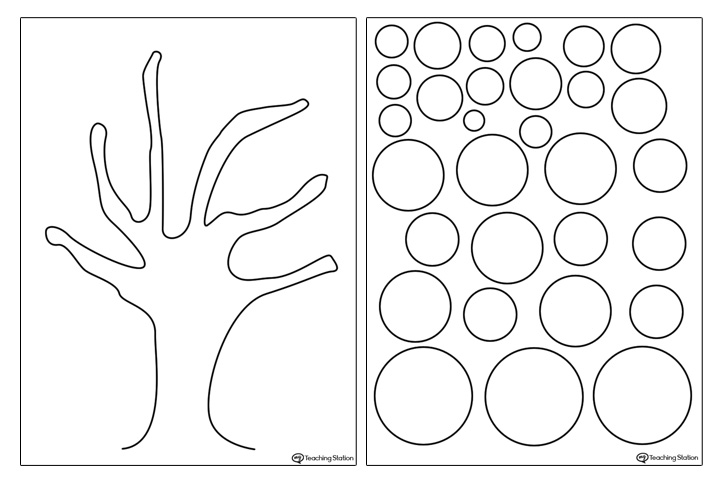 Tree Template for Kids Art Project