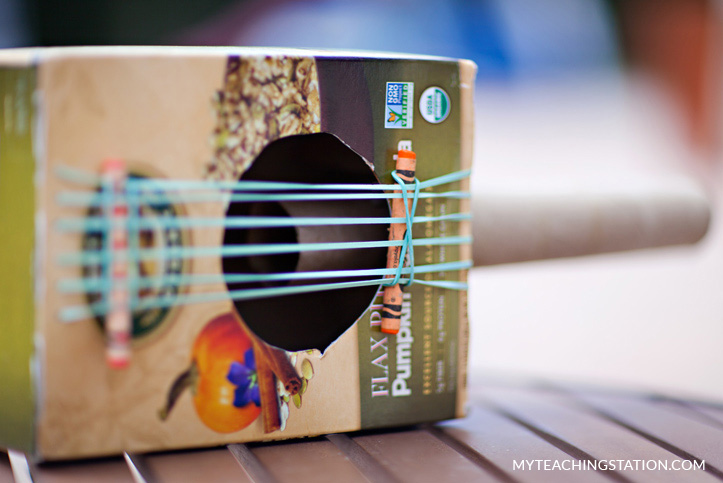 Play music with your homemade guitar!