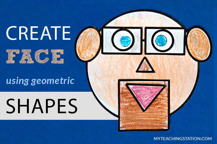 Create face using basic geometric shapes