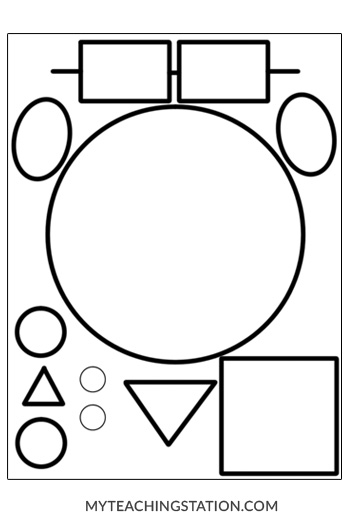 My Teaching Station Template for making shapes face