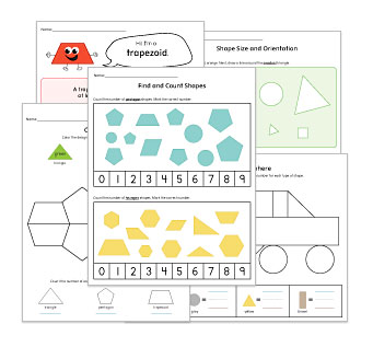 2-D Shapes Worksheets and Activities