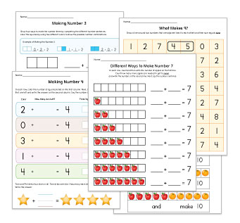 Compose / Decompose Numbers Worksheet