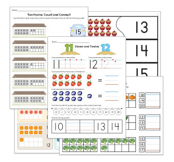 Counting to 20 Worksheets and Activities