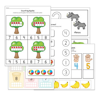 Counting to 10 Worksheets and Activities