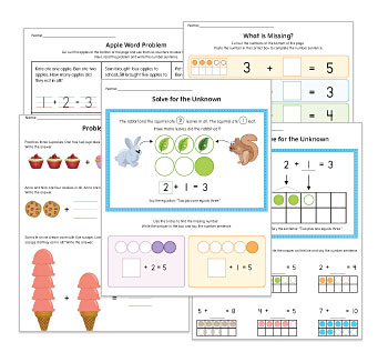 Problem Solving Kindergarten Worksheets