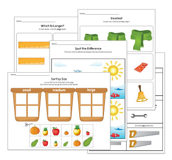 Measurement Preschool Worksheets