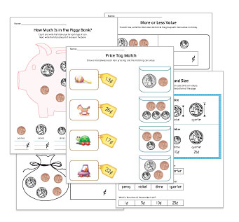 Money Kindergarten Worksheets