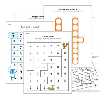 Numeral Identification Worksheets and Activities
