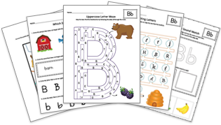 Learning the Alphabet Worksheet Bundle