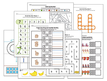 MTS Math Program Preschool Worsheets
