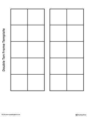 Double Ten Frame Template  MyteachingstationCom
