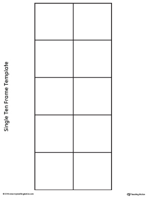 Single Ten Frame Template  MyteachingstationCom